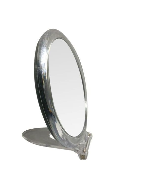 Blue Canyon Clear Mirror With Stand - Round